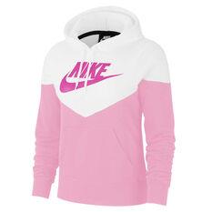 Nike Womens Sportswear Heritage Hoodie Pink XS, Pink, rebel_hi-res