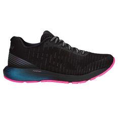 Asics Dynaflyte 3 Lite Show Womens Running Shoes Black / Pink US 6, Black / Pink, rebel_hi-res