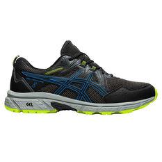 Asics GEL Venture 8 Mens Trail Running Shoes Black/Blue US 7, , rebel_hi-res