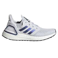 adidas Ultraboost 20 Space Race Womens Running Shoes Grey / Purple US 6.5, Grey / Purple, rebel_hi-res