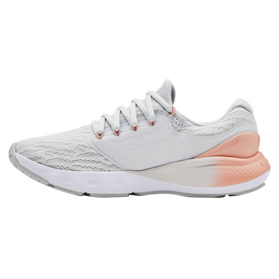 Under Armour Charged Vantage Womens Running Shoes, Grey/Pink, rebel_hi-res