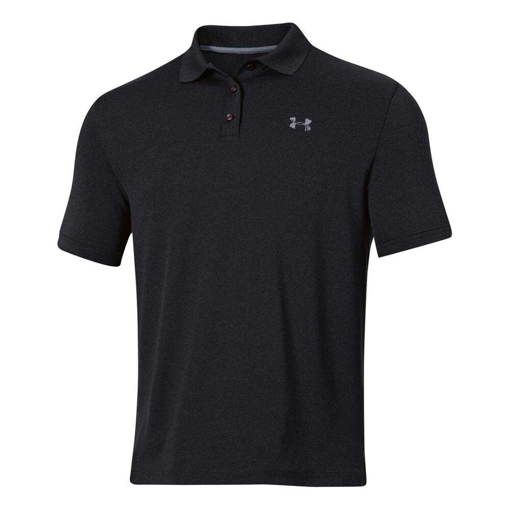 74bd845c Under Armour Mens Performance Polo Shirt Black M Adult