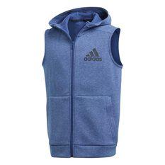 adidas Boys ID Stadium Hoodie Blue / Black 8 Junior, Blue / Black, rebel_hi-res