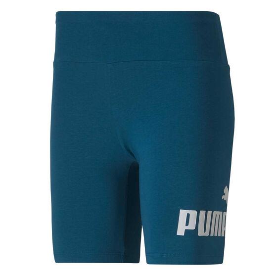 Puma Womens Essentials+ 7in Shorts Blue XS, Blue, rebel_hi-res