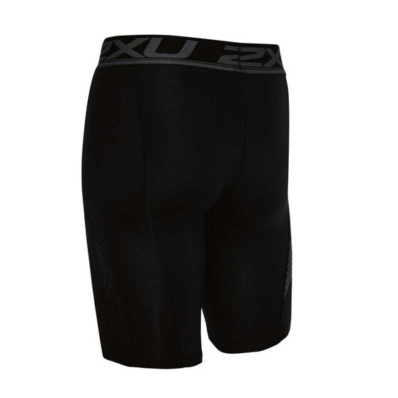 2XU Mens Accelerate Compression Shorts, Black, rebel_hi-res