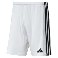 Adidas Mens Squadra 21 Shorts White XS, White, rebel_hi-res