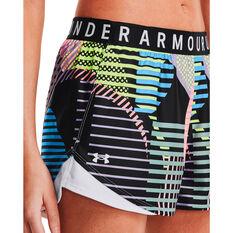Under Armour Womens Play Up 3.0 Geo Print Shorts Black M, Black, rebel_hi-res