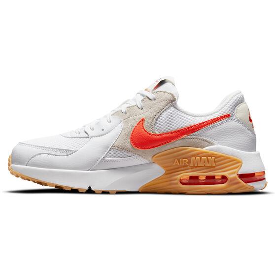 Nike Air Max Excee S50 Mens Casual Shoes, White/Orange, rebel_hi-res