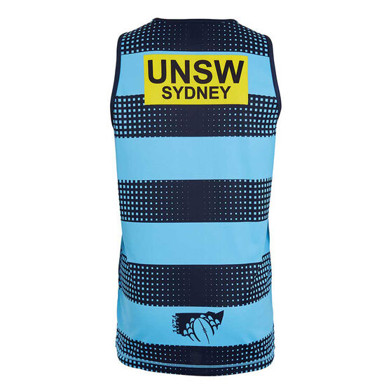 NSW Waratahs 2019 Mens Training Singlet Blue XL, Blue, rebel_hi-res