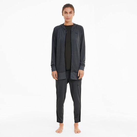 Puma Womens Studio Knit Jacket, Grey, rebel_hi-res
