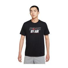 Nike Mens Sportswear Swoosh By Air Tee Black XS, Black, rebel_hi-res