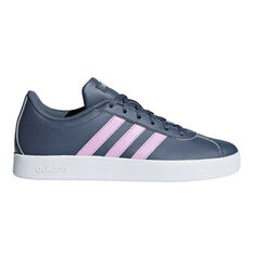 adidas VL Court 2.0 Kids Casual Shoes Navy / Purple US 4, Navy / Purple, rebel_hi-res
