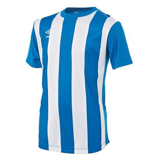 Umbro Kids Striped Jersey, Royal Blue / White, rebel_hi-res