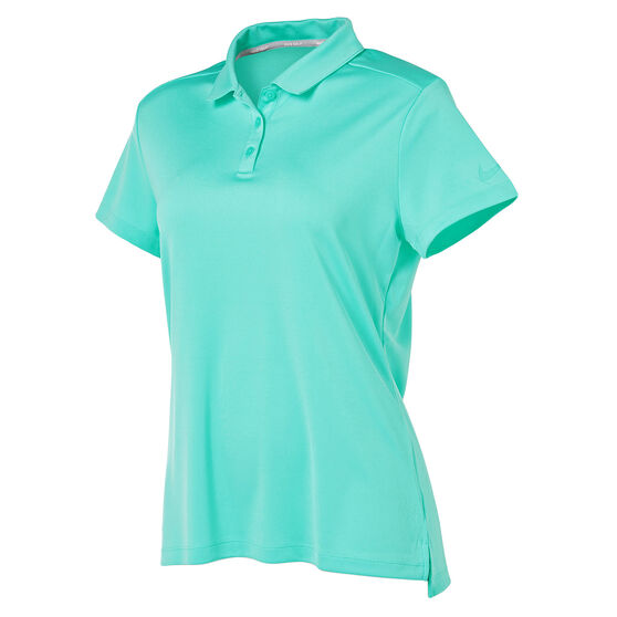 Nike Womens Dry Golf Polo Aqua XS, Aqua, rebel_hi-res