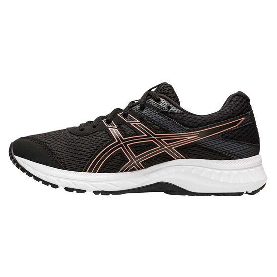 Asics GEL Contend 6 Womens Running Shoes, Black/Rose Gold, rebel_hi-res