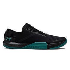 Under Armour Tribase Reign Mens Training Shoes Black / Green US 7, Black / Green, rebel_hi-res