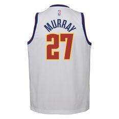 Nike Denver Nuggets Jamal Murray 2020/21 Kids Earned Jersey White S, White, rebel_hi-res