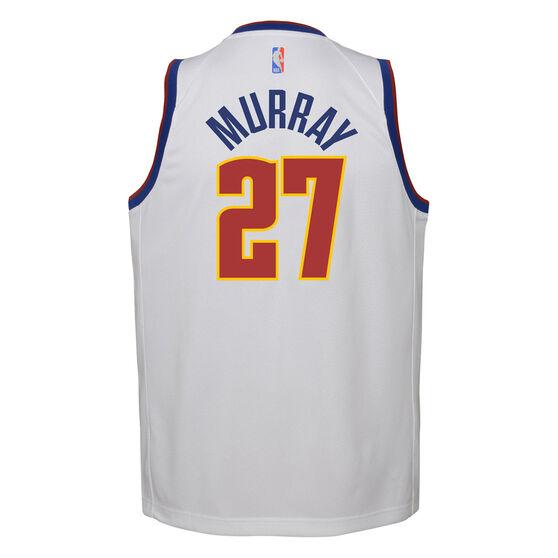 Nike Denver Nuggets Jamal Murray 2020/21 Kids Earned Jersey, White, rebel_hi-res