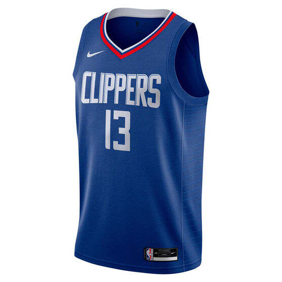 Nike Los Angeles Clippers Paul George 2020/21 Mens Icon Edition Authentic Jersey, Blue, rebel_hi-res