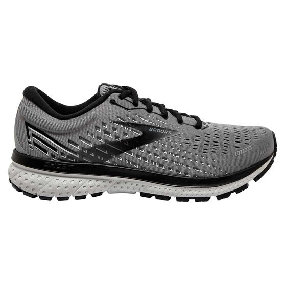 Brooks Ghost 13 2E Mens Running Shoes, Grey/Black, rebel_hi-res