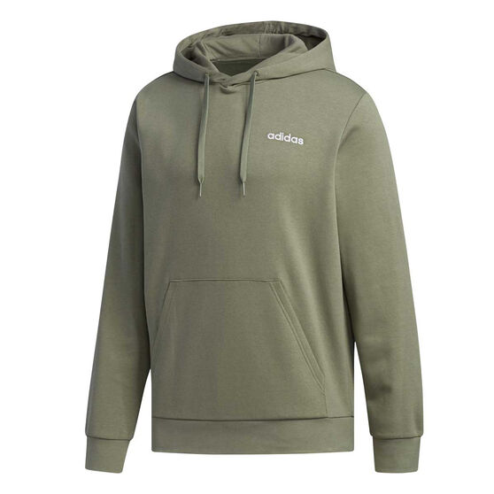 adidas Mens Essentials Feelcozy Fleece Hoodie, Green, rebel_hi-res