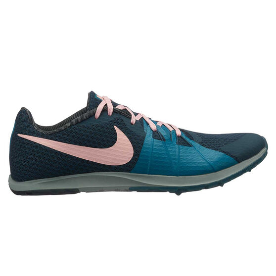 Nike Zoom Rival Waffle Mens Track Spikes, Navy / Pink, rebel_hi-res