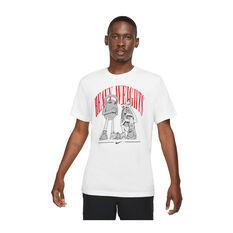 Nike Mens Dri-FIT Training Tee White L, White, rebel_hi-res