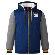West Coast Eagles Mens Sideline Jacket Blue S, Blue, rebel_hi-res