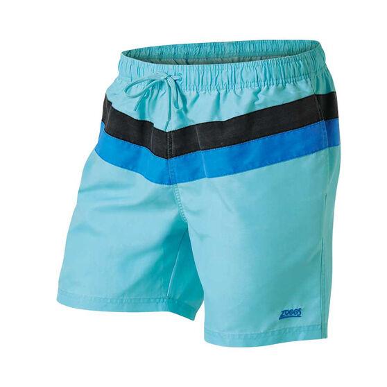 Zoggs Mens Axel Board Shorts, Blue, rebel_hi-res