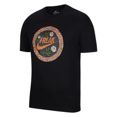 Nike Mens Giannis Freak Swoosh Basketball Tee Black S, Black, rebel_hi-res