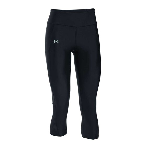 Under Armour Womens Fly By Capri Black XS, Black, rebel_hi-res