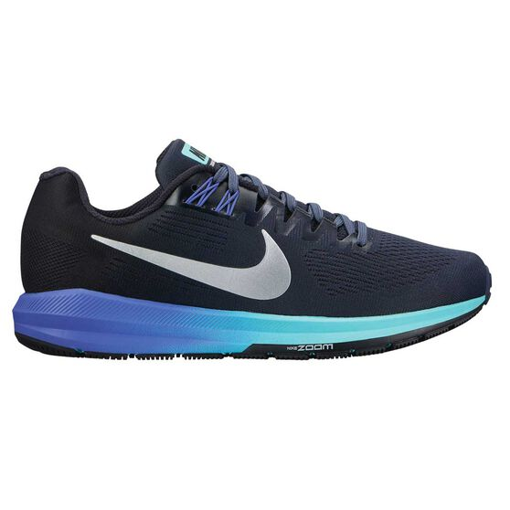 f9bed40bfe4 Nike Air Zoom Structure 21 Womens Running Shoes Blue   Silver US 6 ...