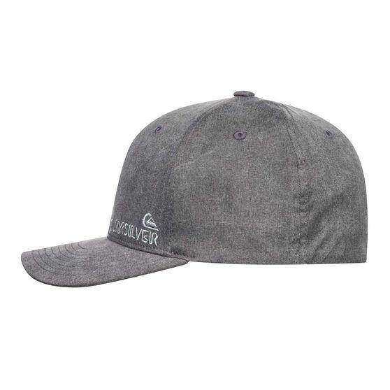 Quiksilver Mens Flexfit Hat Grey SML/MED, Grey, rebel_hi-res