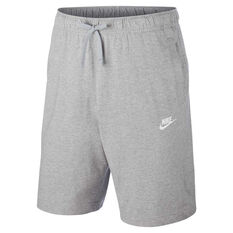 Nike Mens Sportswear Club Jersey Shorts Grey S, Grey, rebel_hi-res