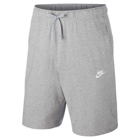 Nike Mens Sportswear Club Jersey Shorts Grey XS, Grey, rebel_hi-res