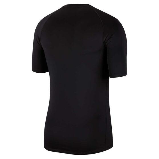 Nike Mens Pro Tee Black S, Black, rebel_hi-res