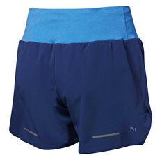 ... Asics Womens Lite Show Running Shorts Blue S 1949ca81449
