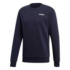 adidas Mens Essentials Plain Crew Sweater Navy S, Navy, rebel_hi-res