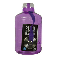 Russell Athletics 2LPD Dual Cap Water Bottle Grape 2200ml, Grape, rebel_hi-res