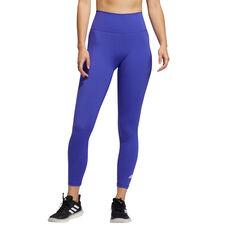 adidas Womens Believe This Primeblue 7/8 Tights Purple XS, Purple, rebel_hi-res
