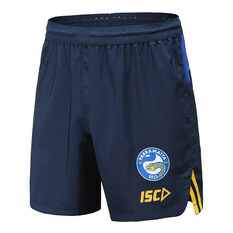 Parramatta Eels 2020 Mens Training Shorts Navy / Blue S, Navy / Blue, rebel_hi-res