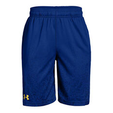 Under Armour Boys SC30 Basketball Shorts Blue / Yellow XS, Blue / Yellow, rebel_hi-res