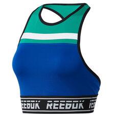 Reebok Womens Meet You There Sports Bra Blue XS, Blue, rebel_hi-res