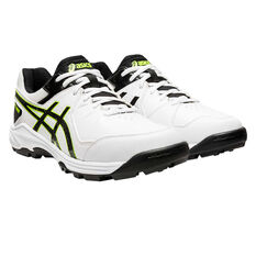 Asics GEL Peake 6 Cricket Shoes White US 8, White, rebel_hi-res