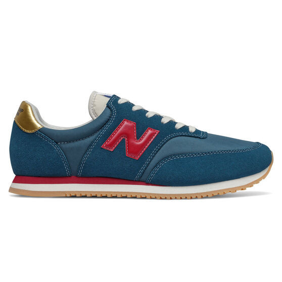 New Balance Comp 100 Mens Casual Shoes, Green/Red, rebel_hi-res