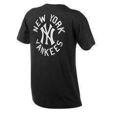 New York Yankees Mens Drimer Tee Black S, Black, rebel_hi-res