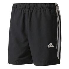 adidas Mens 3 Stripe Chelsea Shorts Black / White S Adult, Black / White, rebel_hi-res