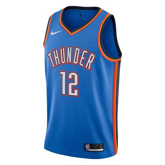 Nike Oklahoma City Thunder Steven Adams 2019 Mens Icon Edition Swingman Jersey, Blue, rebel_hi-res