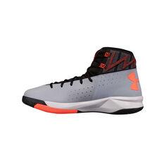 Under Armour Rocket 2 Mens Basketball Shoes Black / Grey US 7, Black / Grey, rebel_hi-res