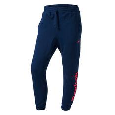 Reebok Mens Fleece Track Pants Navy XS, Navy, rebel_hi-res